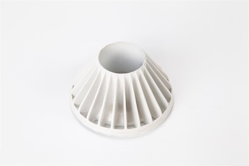 Die casting part with powder coating