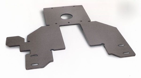 Laser cutting part for back-up plate